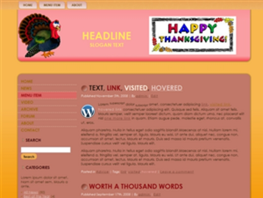 Product picture Thanksgiving Wordpress Themes - MRR