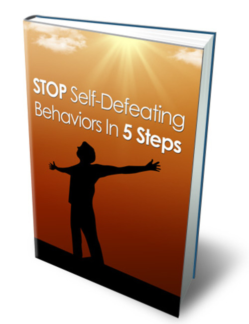 Product picture Stop Self Defeating Behaviors In 5 Steps - MRR