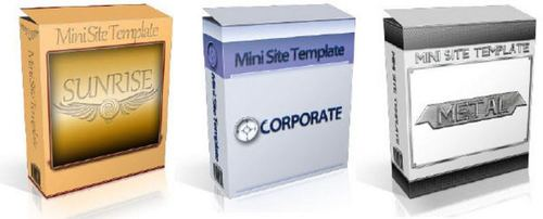Product picture 6 Mini-Site Templates Package