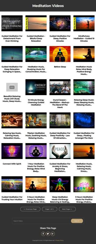 Product picture Meditation Instant Mobile Video Site
